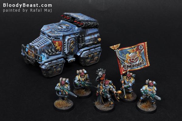 Militarum Tempestus Scions with Taurox Prime painted by Rafal Maj (BloodyBeast.com)
