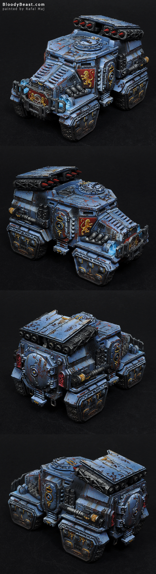 Astra Militarum Taurox Prime painted by Rafal Maj (BloodyBeast.com)
