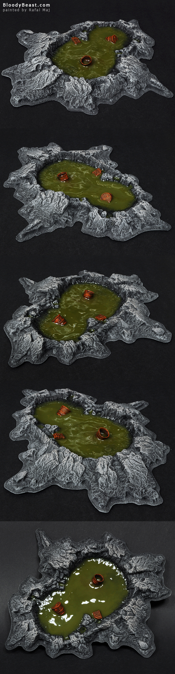 Crater Lake painted by Rafal Maj (BloodyBeast.com)