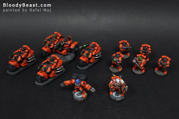 Space Marines Astral Tigers Army painted by Rafal Maj (BloodyBeast.com)