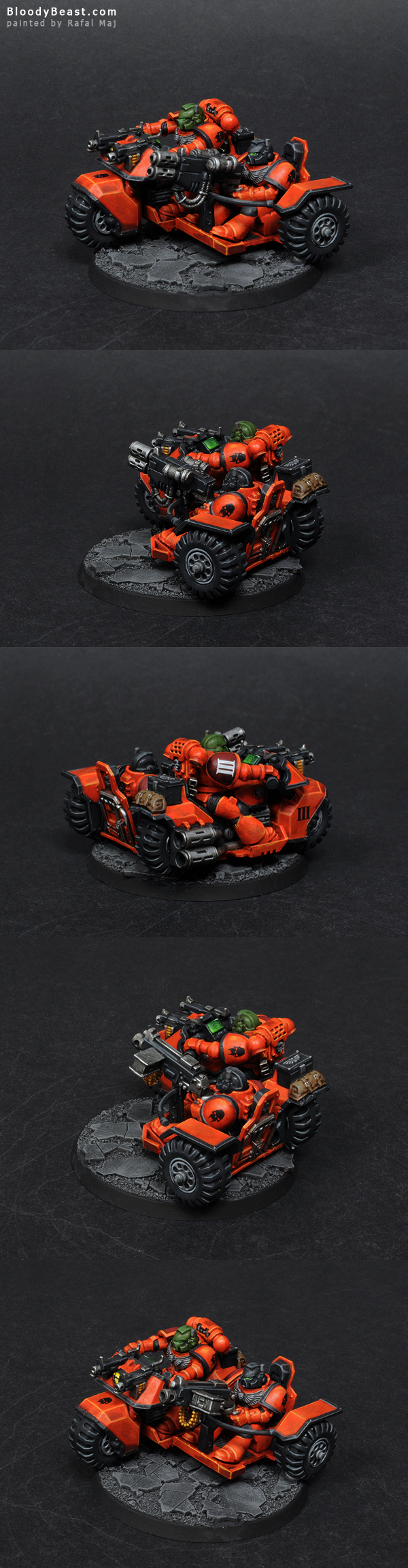 Astral Tigers Assault Bike painted by Rafal Maj (BloodyBeast.com)
