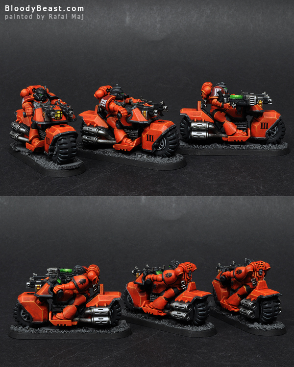 Astral Tigers Bike Squad painted by Rafal Maj (BloodyBeast.com)