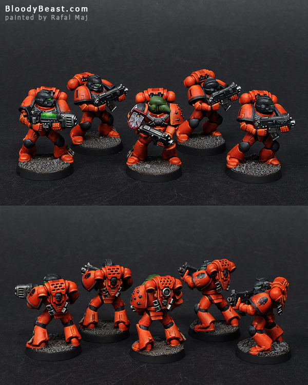Astral Tigers Tactical Squad painted by Rafal Maj (BloodyBeast.com)
