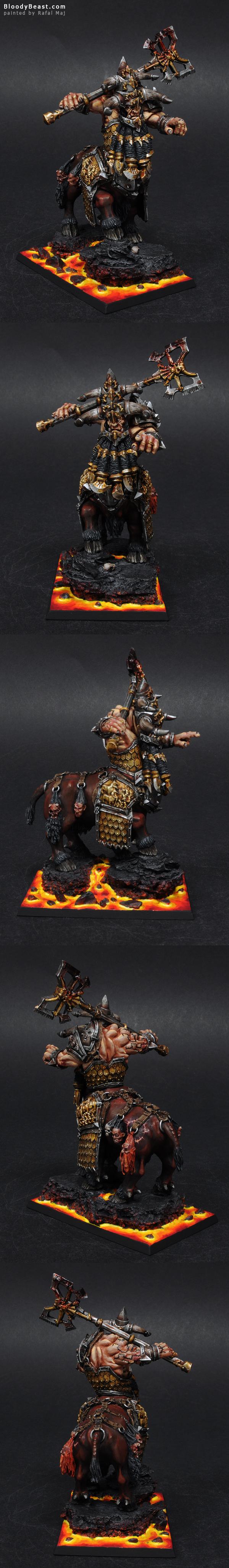 Forge World Chaos Dwarf Bull Centaur Taur'ruk painted by Rafal Maj (BloodyBeast.com)
