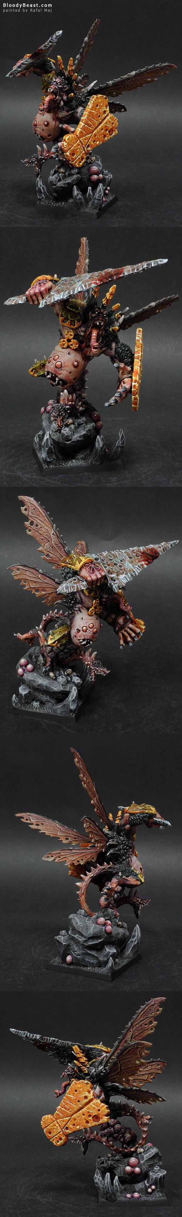 Daemon Prince of Nurgle Conversion painted by Rafal Maj (BloodyBeast.com)