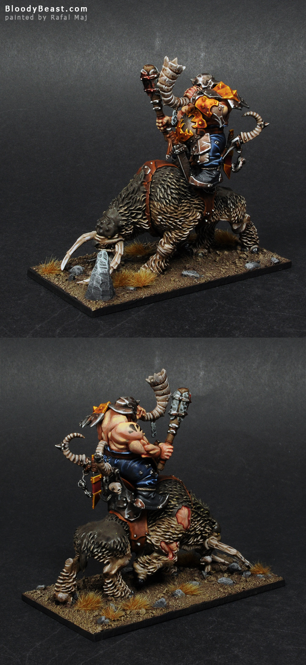 Ogre Mournfang Cavalry Musician painted by Rafal Maj (BloodyBeast.com)