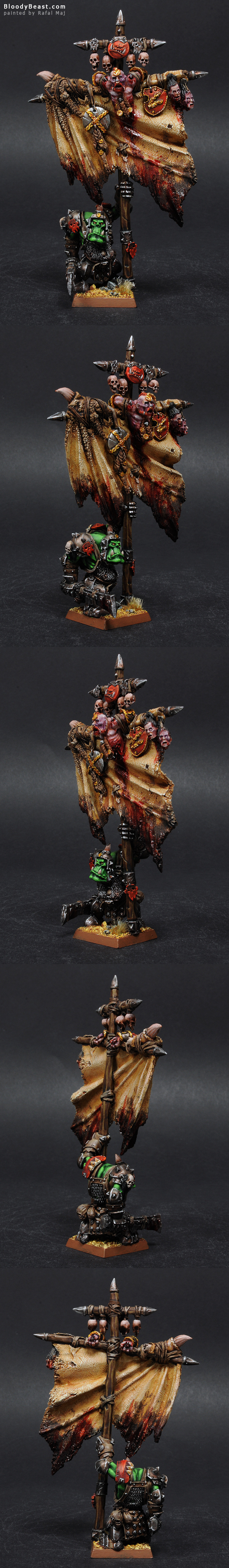Forge World Orc Battle Standard Bearer painted by Rafal Maj (BloodyBeast.com)