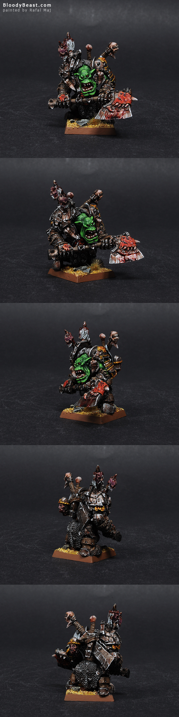 Forge World Orc Warboss painted by Rafal Maj (BloodyBeast.com)