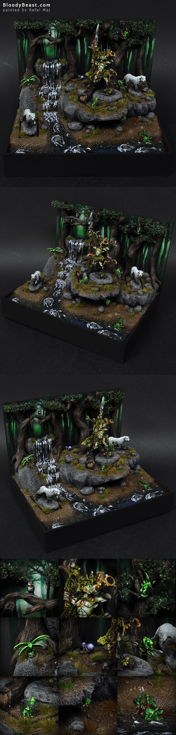 Wood Elves Orion on a Display Base painted by Rafal Maj (BloodyBeast.com)