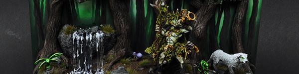 Wood Elves Orion on a Display Base