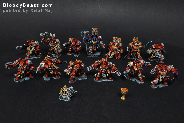 Space Hulk Blood Angels Terminatrors painted by Rafal Maj (BloodyBeast.com)