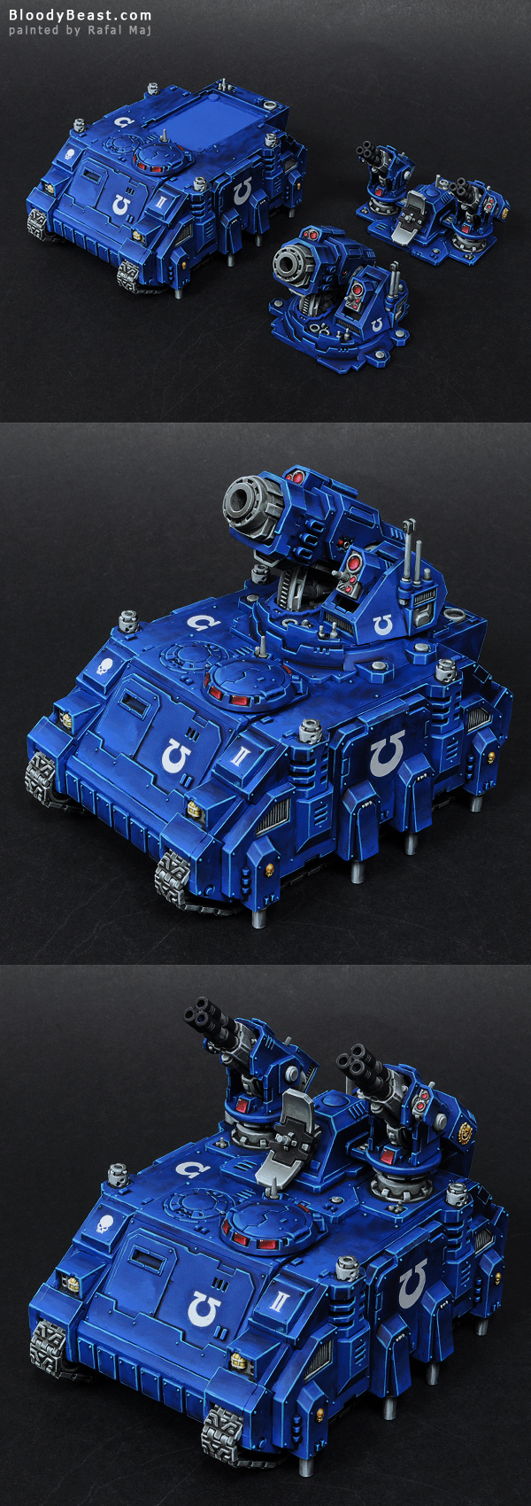 Space Marines Ultramarines Hunter and Stalker Magnetized Parts painted by Rafal Maj (BloodyBeast.com)