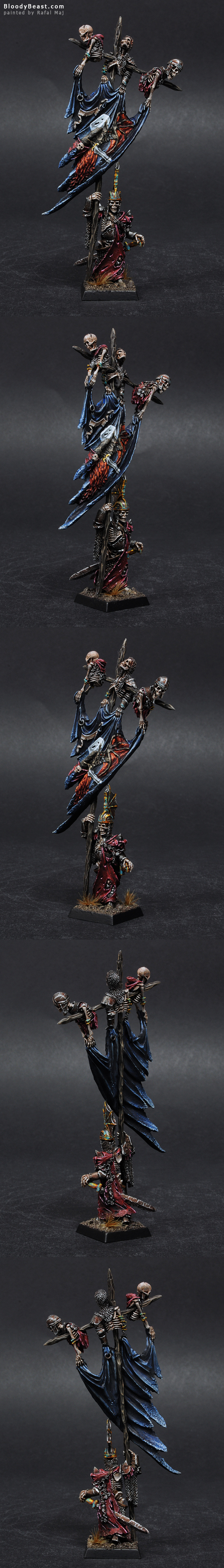 Forge World Wight King Battle Standard Bearer painted by Rafal Maj (BloodyBeast.com)