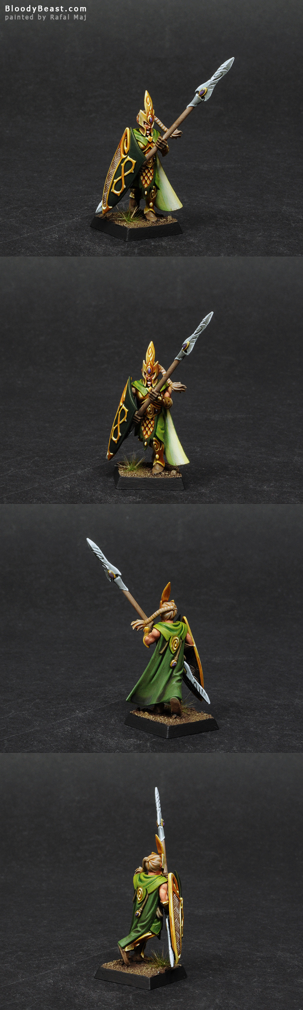 Wood Elf Eternal Guard painted by Rafal Maj (BloodyBeast.com)