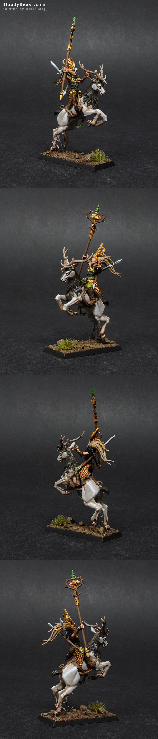 Wood Elf Sister of the Thorn painted by Rafal Maj (BloodyBeast.com)