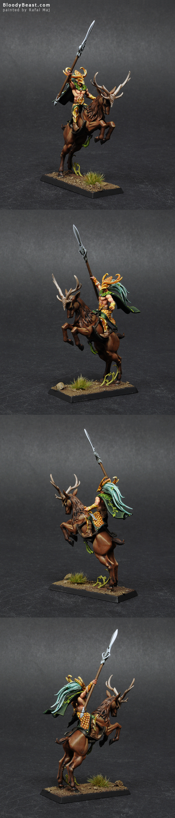 Wood Elf Wild Rider painted by Rafal Maj (BloodyBeast.com)