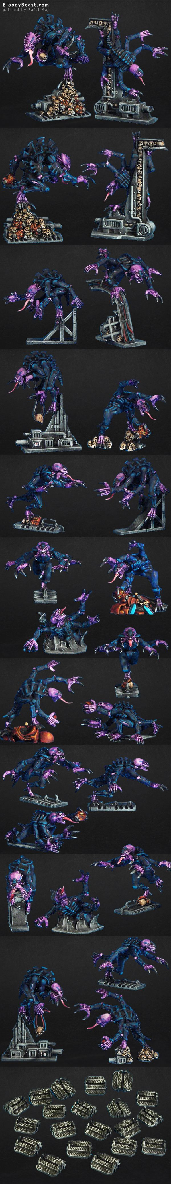 Another Space Hulk 3rd Edition Genestealers painted by Rafal Maj (BloodyBeast.com)