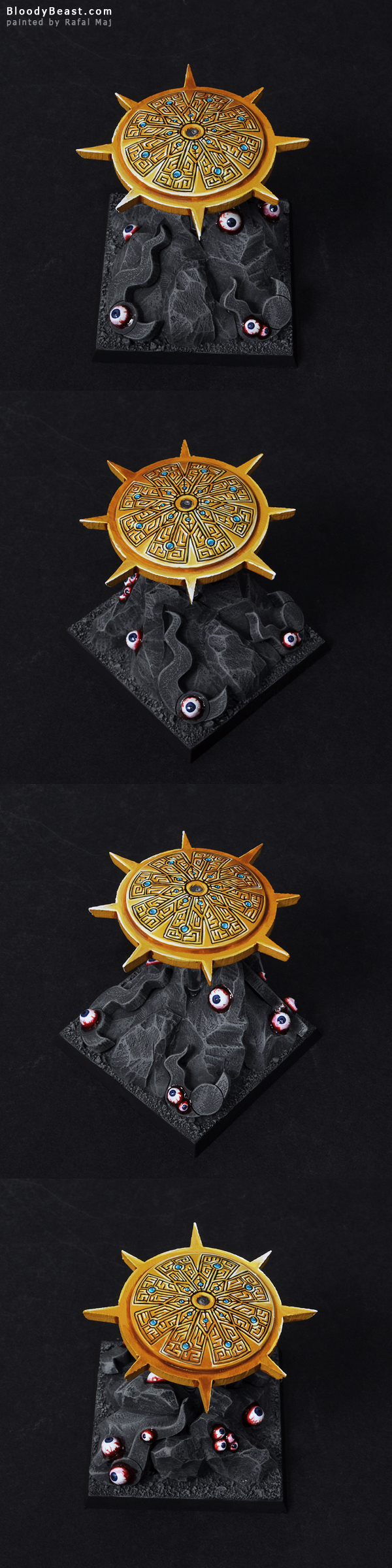 Disc of Tzeentch painted by Rafal Maj (BloodyBeast.com)