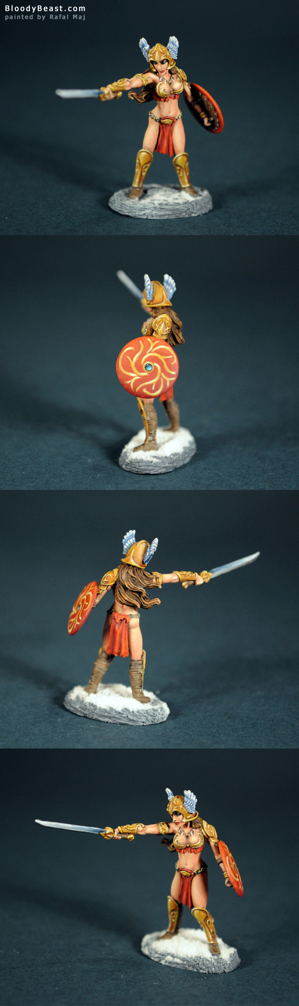 Female Barbarian painted by Rafal Maj (BloodyBeast.com)