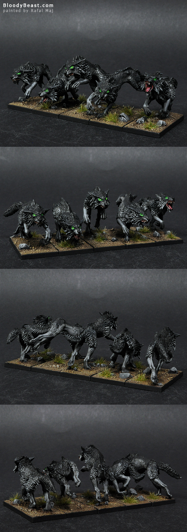 Black Wolves painted by Rafal Maj (BloodyBeast.com)