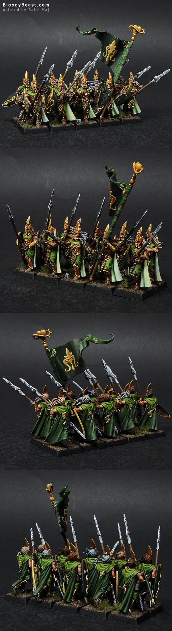 Wood Elves Eternal Guard painted by Rafal Maj (BloodyBeast.com)