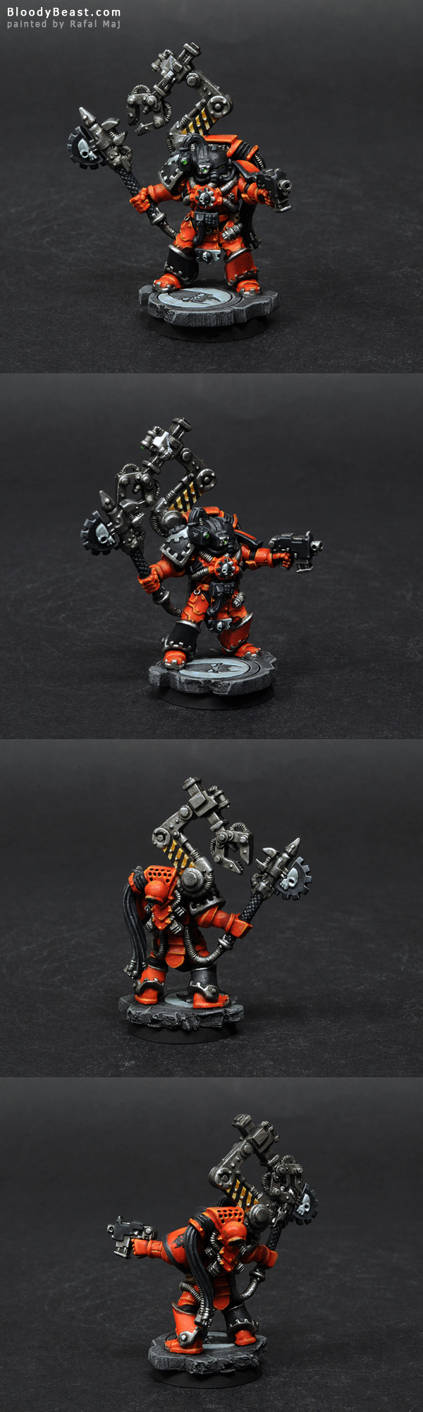 Astral Tiger Space Marine Techmarine painted by Rafal Maj (BloodyBeast.com)