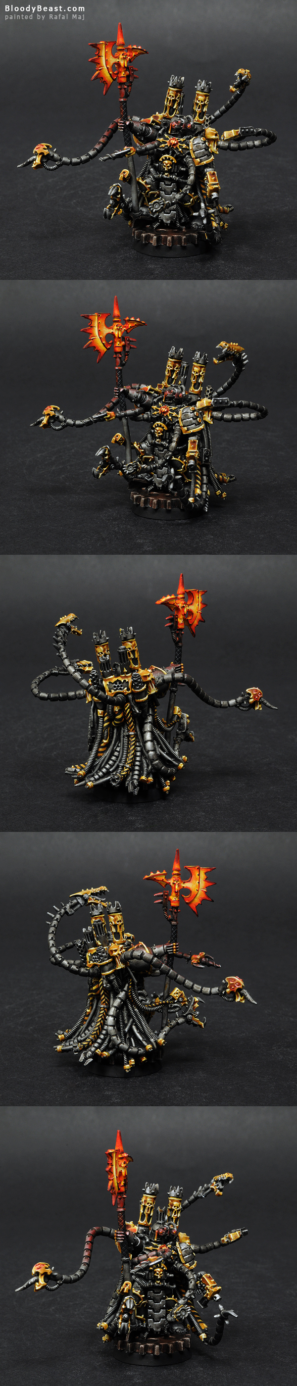 Chaos Space Marines Warpsmith painted by Rafal Maj (BloodyBeast.com)