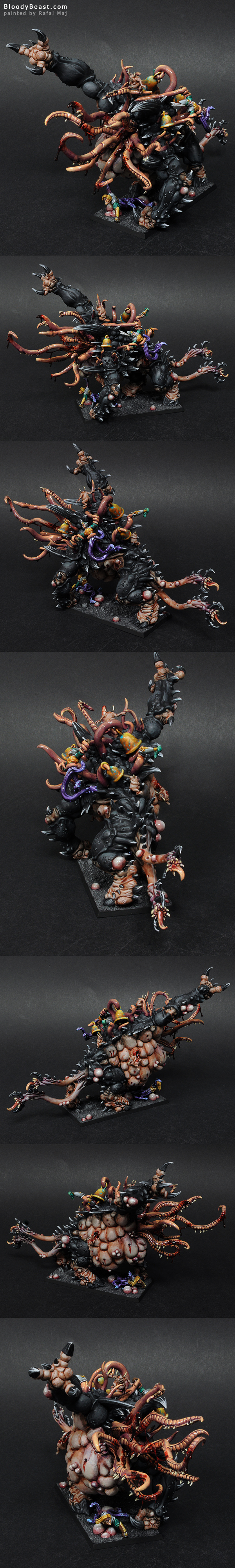 Mutalith Vortex Beast of Nurgle painted by Rafal Maj (BloodyBeast.com)
