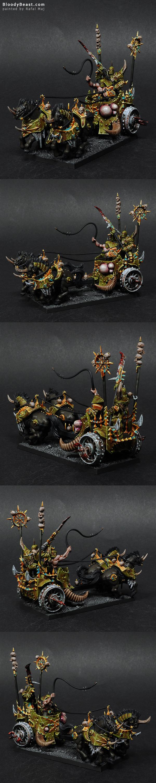 Nurgle Chaos Chariot painted by Rafal Maj (BloodyBeast.com)
