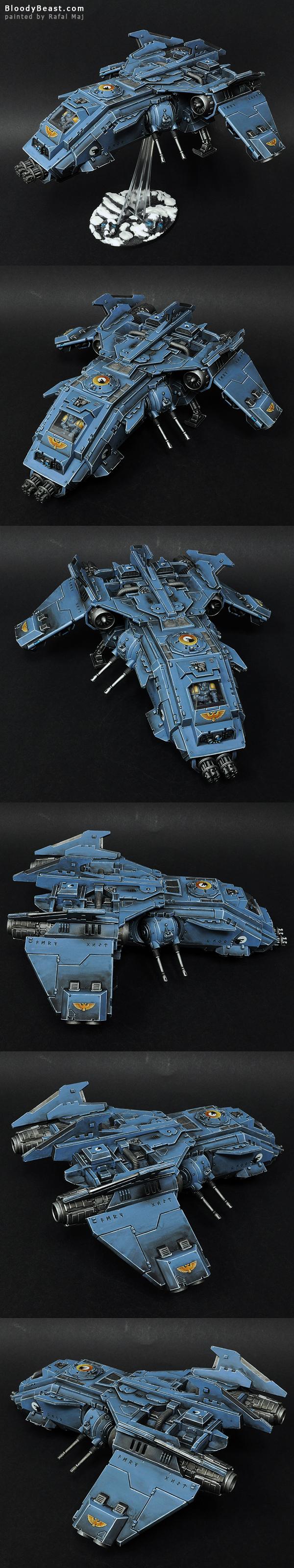Space Wolves Fire Raptor Gunship painted by Rafal Maj (BloodyBeast.com)
