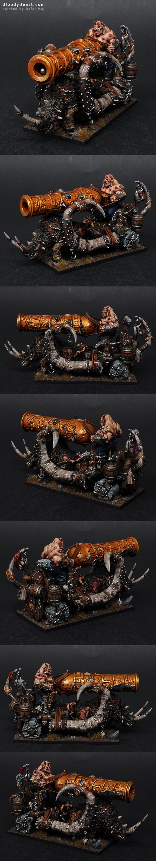 Ogre Kingdoms Ironblaster painted by Rafal Maj (BloodyBeast.com)