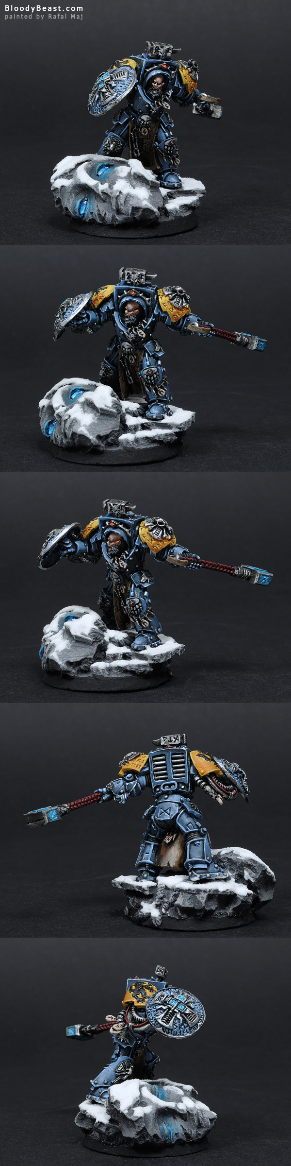 Space Wolves Arjac Rockfist in Terminator Armour painted by Rafal Maj (BloodyBeast.com)