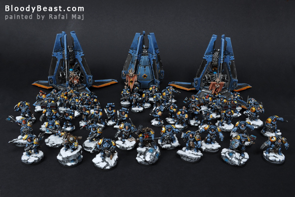 Space Wolves Army painted by Rafal Maj (BloodyBeast.com)
