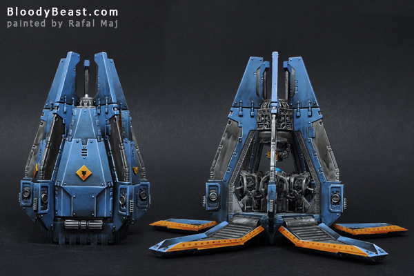 Space Wolves Drop Pod painted by Rafal Maj (BloodyBeast.com)