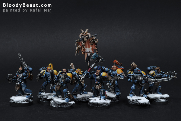 Space Wolves Grey Hunters painted by Rafal Maj (BloodyBeast.com)