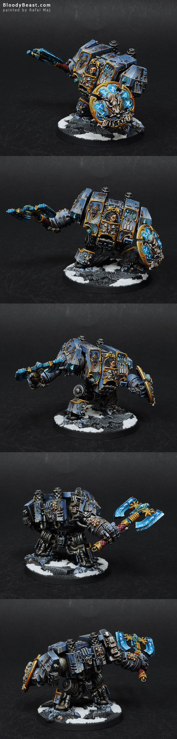 Space Wolves Venerabe Dreadnought painted by Rafal Maj (BloodyBeast.com)