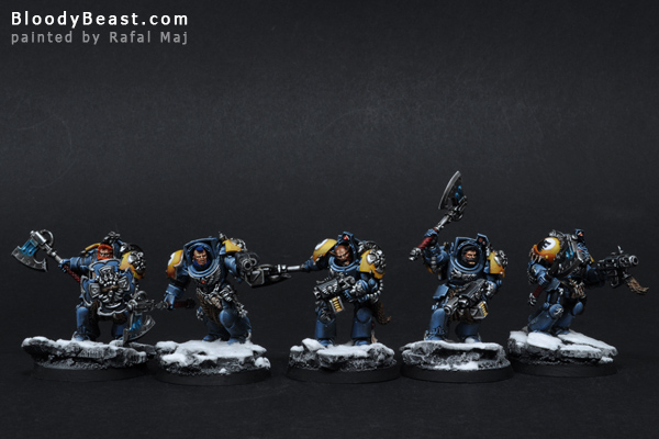 Space Wolves Wolf Guards painted by Rafal Maj (BloodyBeast.com)