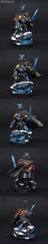 Space Wolves Rune Priest painted by Rafal Maj (BloodyBeast.com)