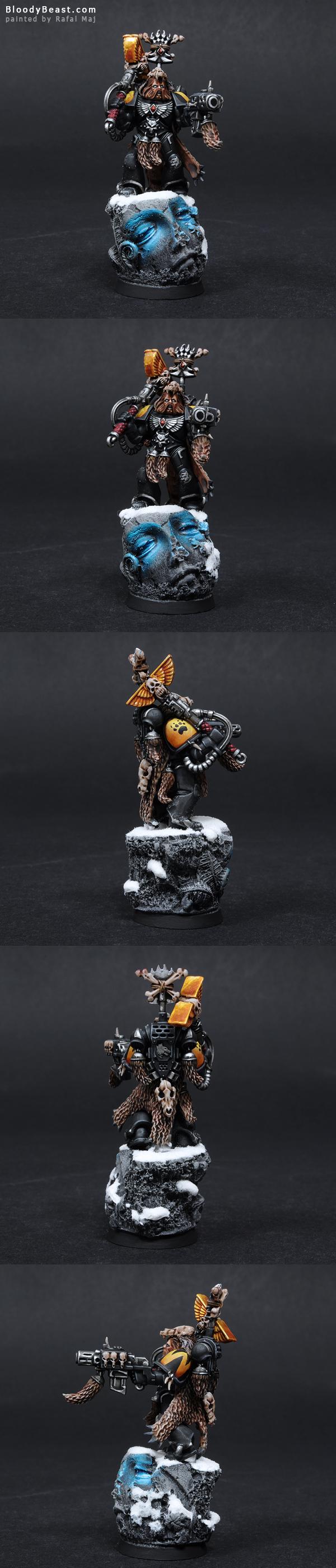 Space Wolves Wolf Priest painted by Rafal Maj (BloodyBeast.com)