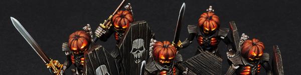 Necron Lychguard of the Pumpkin Dynasty
