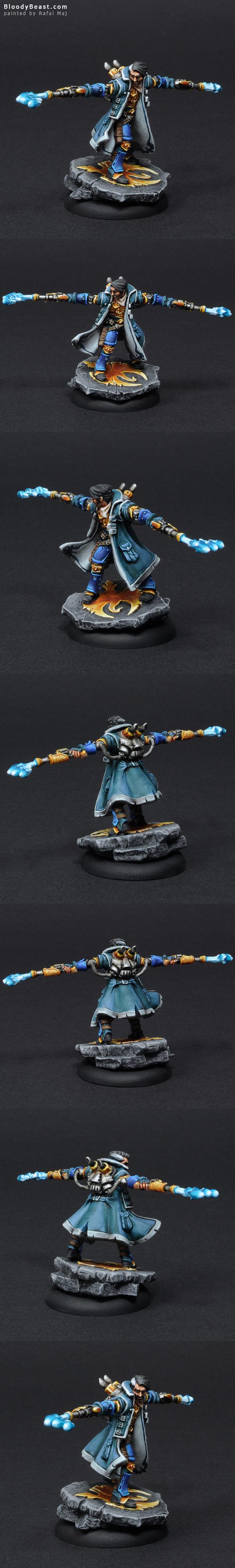 Cygnar Captain Allister Caine painted by Rafal Maj (BloodyBeast.com)
