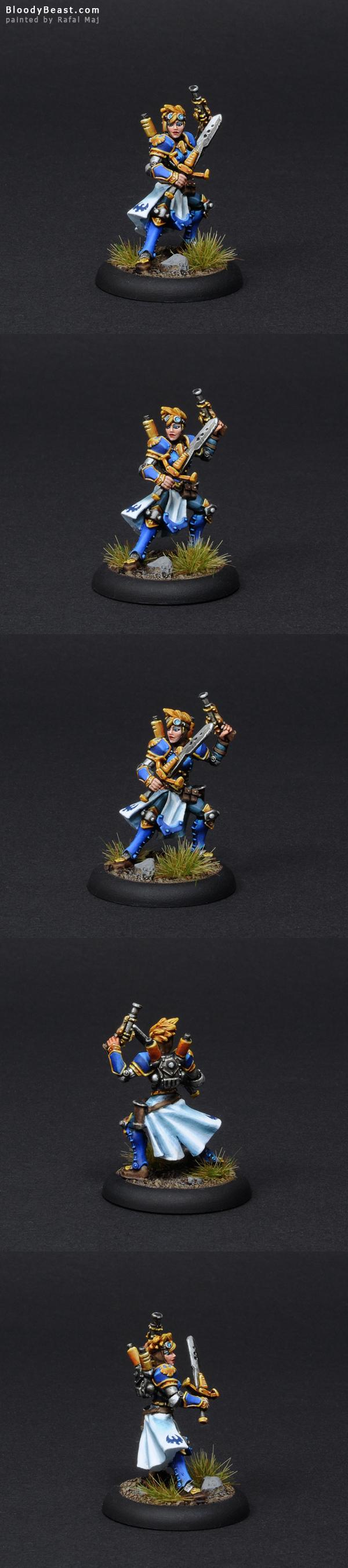 Cygnar Female Journeyman Warcaster painted by Rafal Maj (BloodyBeast.com)