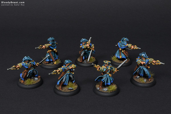Cygnar Gun Mages with Officer Unit Attachment painted by Rafal Maj (BloodyBeast.com)