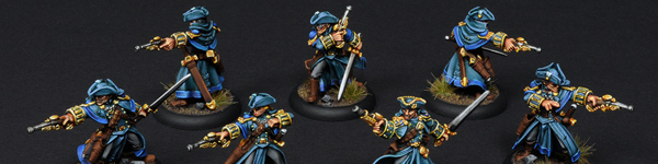 Cygnar Gun Mages with Officer Unit Attachment