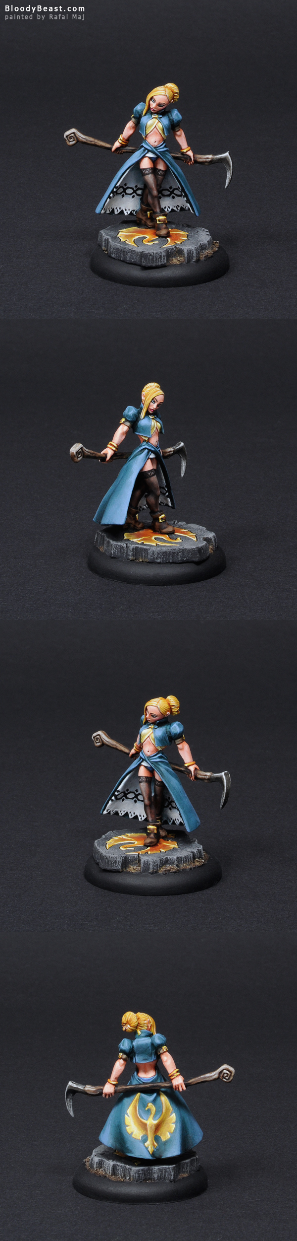 Freebooter Female Wizard painted by Rafal Maj (BloodyBeast.com)