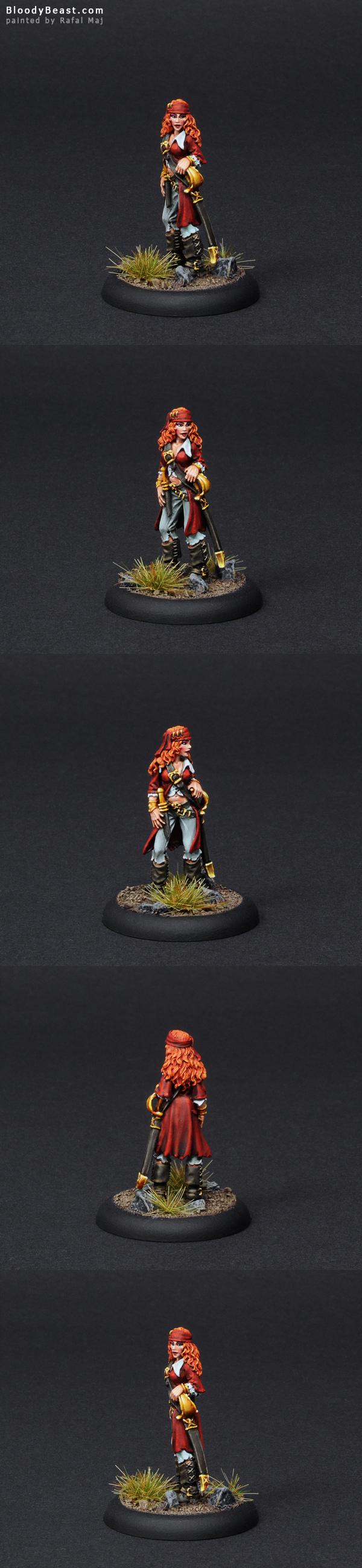 Reaper Pirate Girl Kassata Lewynn painted by Rafal Maj (BloodyBeast.com)