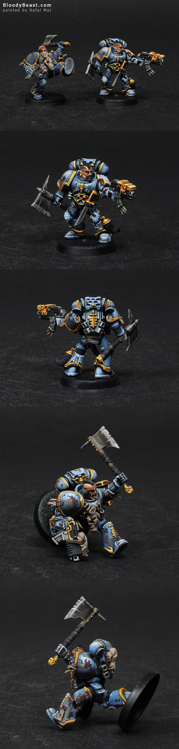 Space Wolves Battle Brothers painted by Rafal Maj (BloodyBeast.com)
