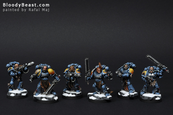 Space Wolves Grey Hunters painted by Rafal Maj (BloodyBeast.com)