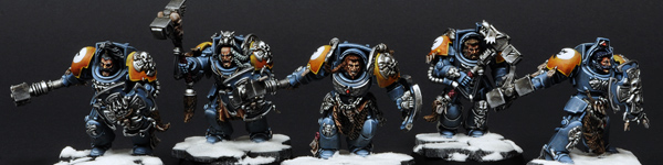 Space Wolves Wolf Guards With Thunder Hammers