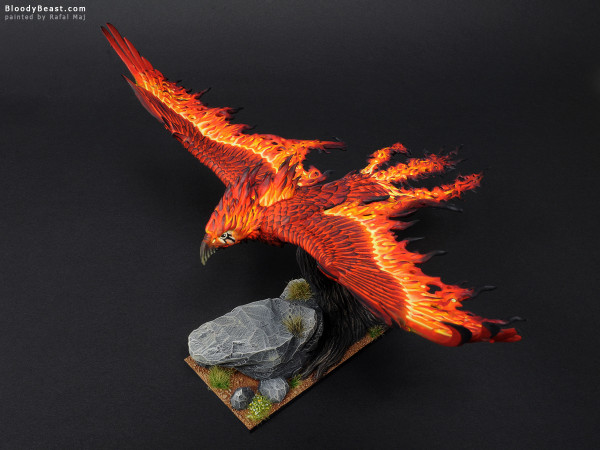 Flamespyre Phoenix painted by Rafal Maj (BloodyBeast.com)